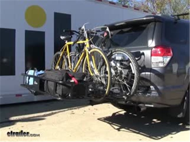 2a09ae933c2 Hollywood Racks Sport Rider SE 4 Bike Rack with Cargo Carrier Review Video