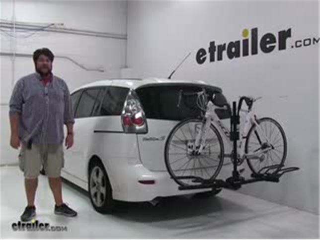 Hollywood Racks Trail Rider Hitch Bike Racks Review   2007 Mazda 5 Video |  Etrailer.com