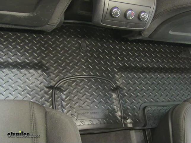husky rear floor liner review - 2011 gmc acadia video | etrailer