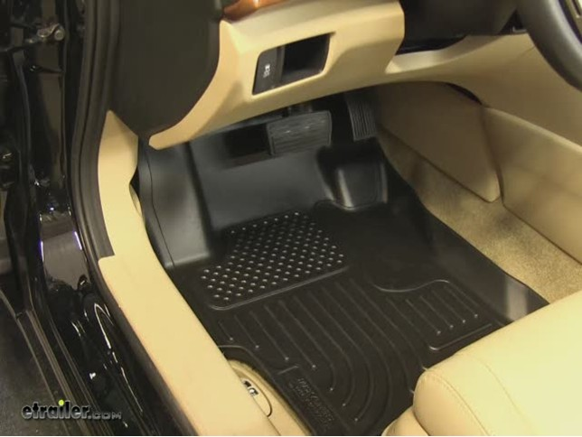 Husky Front And Rear Floor Liners Review   2011 Honda Accord Video |  Etrailer.com
