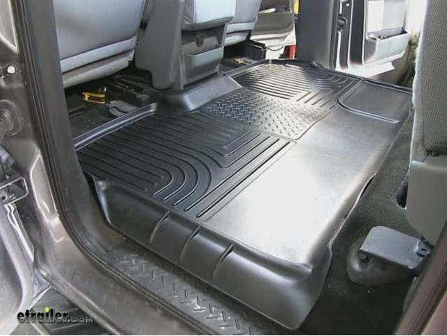 Video Of Husky Liners WeatherBeater Custom Auto Floor Liner   2nd Row Rear    Black