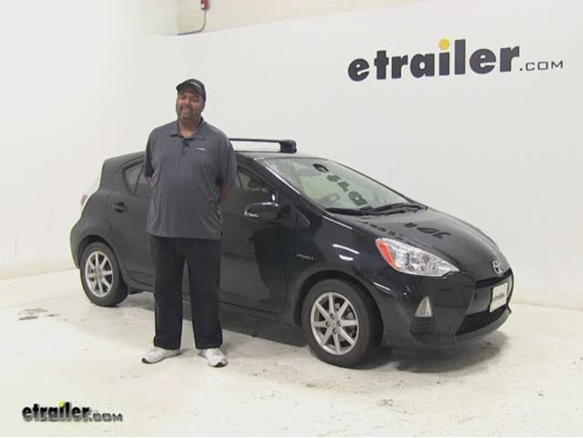 Prius Roof Rack >> Inno Roof Rack Review 2013 Toyota Prius C Video Etrailer Com
