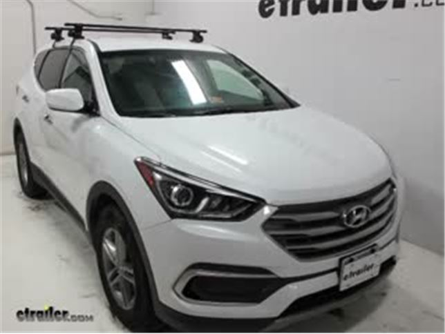 Inno Square Crossbars Roof Rack Installation   2017 Hyundai Santa Fe Video  | Etrailer.com