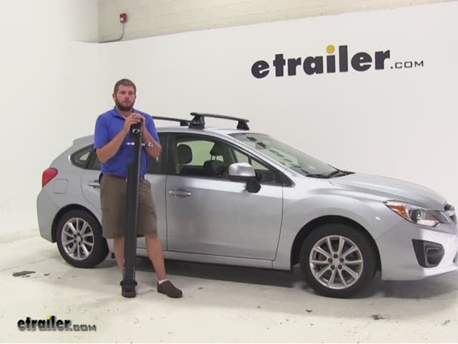 Kuat TRIO Roof Bike Racks Review   2013 Subaru Impreza Video | Etrailer.com