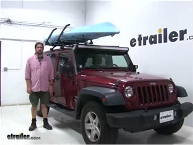 Lockrack Watersport Carriers Review 2013 Jeep Wrangler Unlimited Video Etrailer Com