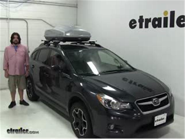Malone Roof Box Review 2014 Subaru Xv Crosstrek Video Etrailer Com