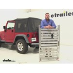 MaxxTow  Hitch Cargo Carrier Review - 1997 Jeep Wrangler