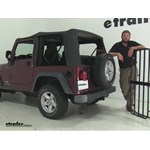 MaxxTow  Hitch Cargo Carrier Review - 2004 Jeep Wrangler