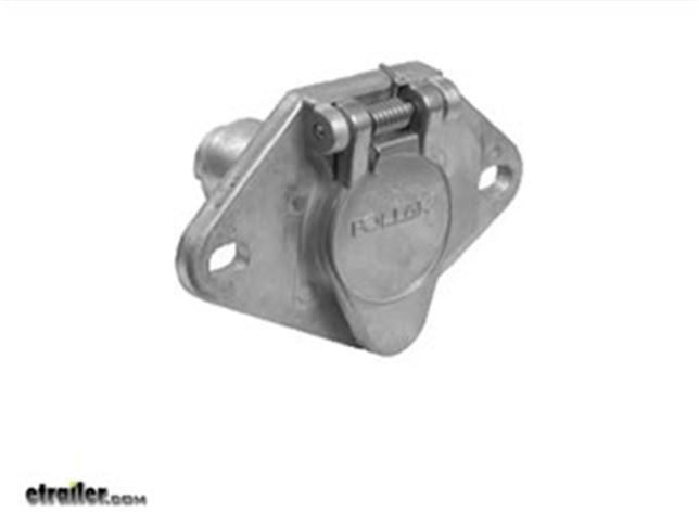 Pollak 4-Pole Round Pin Trailer Wiring Socket Review Video ...