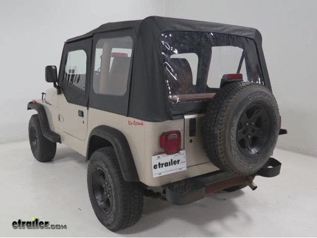 Rampage Complete Soft Top Kit For Jeep   Upper Doors Included   Clear  Windows   Spice Rampage Jeep Tops RA68117