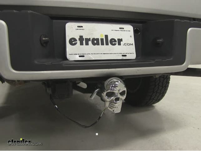 Skull Led Lighted Trailer Hitch Cover 1 1 4 And 2 Hitches Chrome