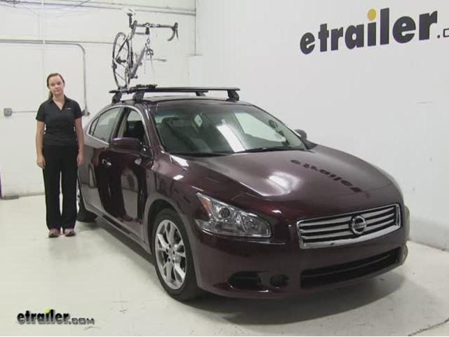 Rhino Rack Road Warrior Roof Bike Racks Review   2014 Nissan Maxima Video |  Etrailer.com