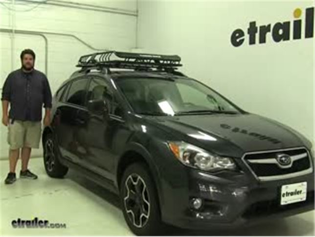 Subaru Crosstrek Roof Rack Noise >> Rhino Rack Roof Basket Review 2014 Subaru Xv Crosstrek Video