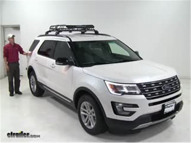 Rhino rack roof basket review 2016 ford explorer video rhino rack roof basket review 2016 ford explorer video etrailer sciox Image collections