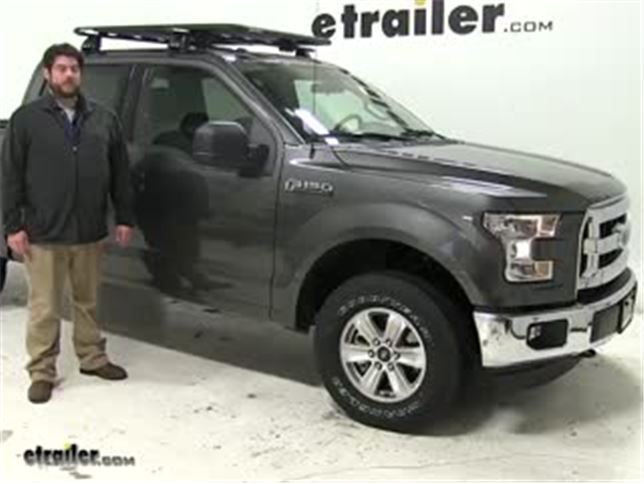 Rhino Rack Roof Cargo Carrier Review   2016 Ford F 150 Video | Etrailer.com