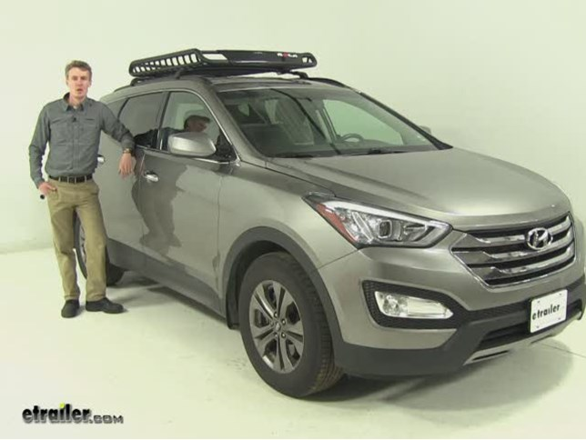Charming Rola Roof Cargo Carrier Review   2013 Hyundai Santa Fe Video | Etrailer.com