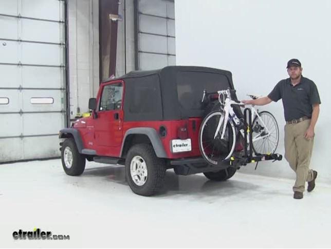 Saris Freedom Spare Tire Bike Racks Review 1997 Jeep Wrangler Etrailer Com