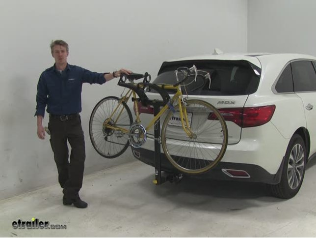 Saris Hitch Bike Racks Review Acura MDX Video Etrailercom - Acura mdx bike rack
