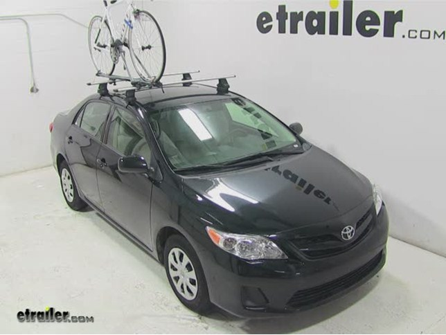 Today On Our 2017 Toyota Corolla We Ll Be Test Ing The Sportrack Roof Mounted Bike Rack Part Sr4611 With A Inaudible 00 08 Traverse
