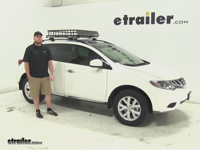Great SportRack Roof Cargo Carrier Review   2014 Nissan Murano Video |  Etrailer.com