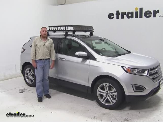 Sportrack Roof Cargo Carrier Review  Ford Edge Video Etrailer Com