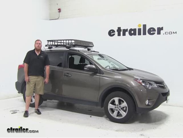 Sportrack Roof Cargo Carrier Review 2017 Toyota Rav4 Video Etrailer