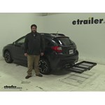 Stromberg Carlson  Hitch Cargo Carrier Review - 2014 Subaru XV Crosstrek