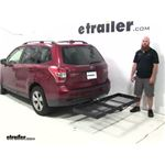 Stromberg Carlson  Hitch Cargo Carrier Review - 2016 Subaru Forester