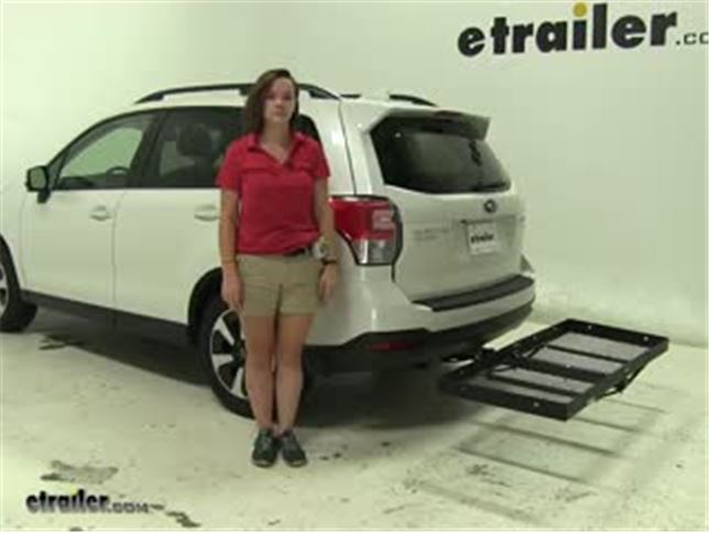 Stromberg Carlson Hitch Cargo Carrier Review 2017 Subaru Forester Video Etrailer