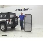 Surco Products 24x60 Hitch Cargo Carrier Review - 2009 Jeep Wrangler