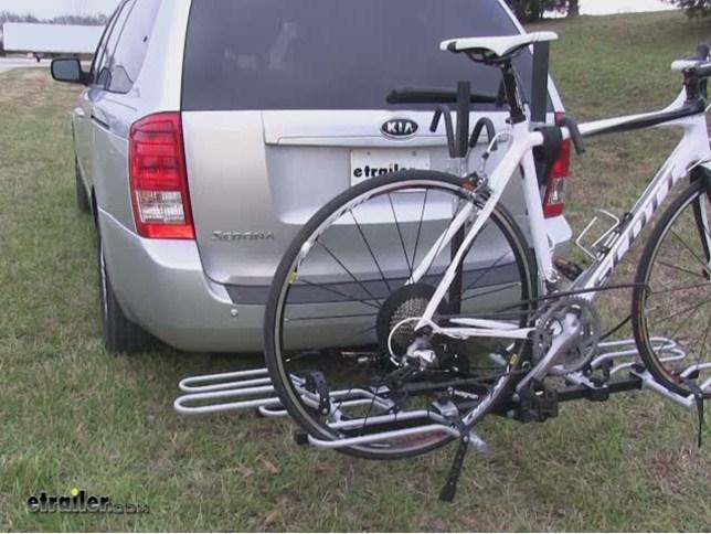Tow Hitch Bike Rack >> Swagman Xtc4 Wheel Mount Hitch Bike Rack Review Video Etrailer Com
