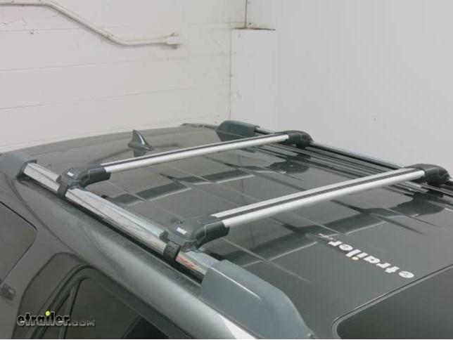 Amazing Thule AeroBlade Edge Roof Rack For Factory Side Rails   Aluminum   Black