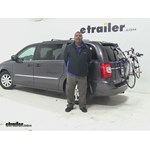 Thule Archway Trunk Bike Racks Review - 2016 Chrysler Town and Country