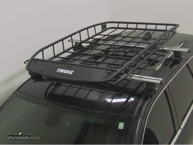 Thule Canyon Roof Cargo Basket With Extension Steel 69