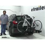 Thule Doubletrack Hitch Bike Racks Review - 2014 Subaru XV Crosstrek
