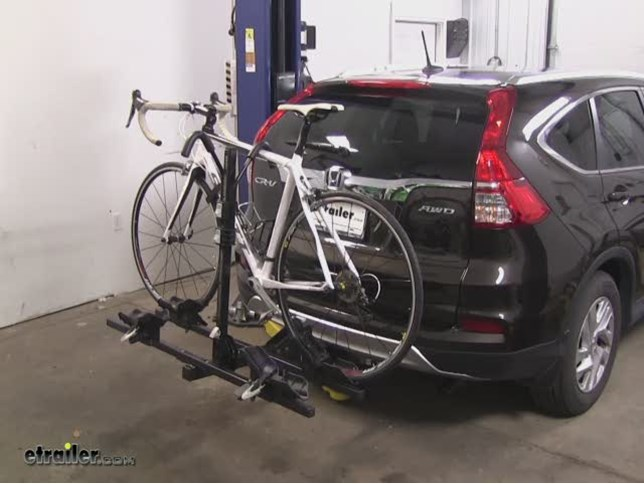 Perfect Thule Doubletrack Hitch Bike Racks Review   2015 Honda CR V Video |  Etrailer.com