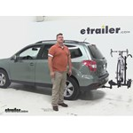 Thule Doubletrack Hitch Bike Racks Review - 2015 Subaru Forester