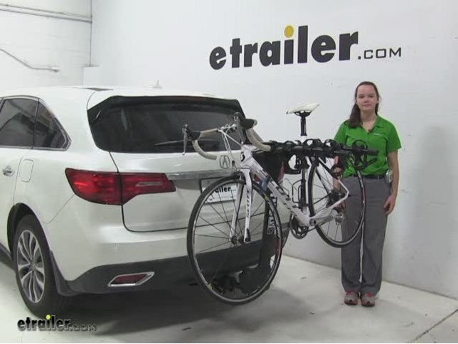 Thule Hitch Bike Racks Review Acura MDX Video Etrailercom - Acura mdx bike rack