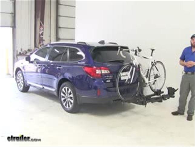 Thule Hitch Bike Racks Review 2017 Subaru Outback Wagon Video Etrailer