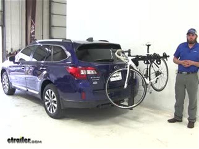 Thule Hitching Post Pro Hitch Bike Racks Review 2017 Subaru Outback Wagon Video Etrailer