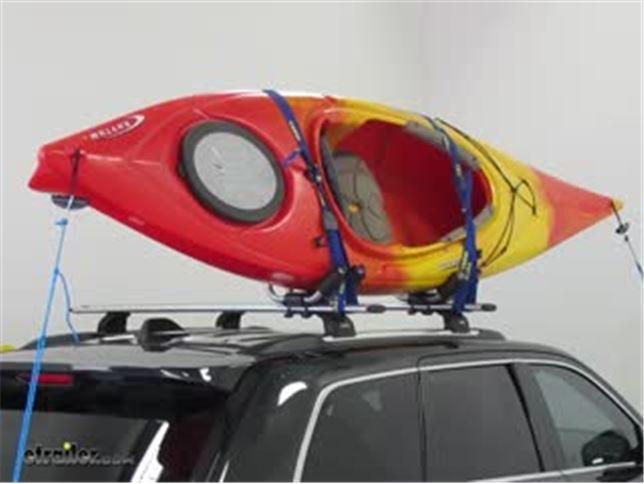 Thule Kayak Rack >> Thule Hull A Port Kayak Carrier W Tie Downs J Style Fixed Side Loading