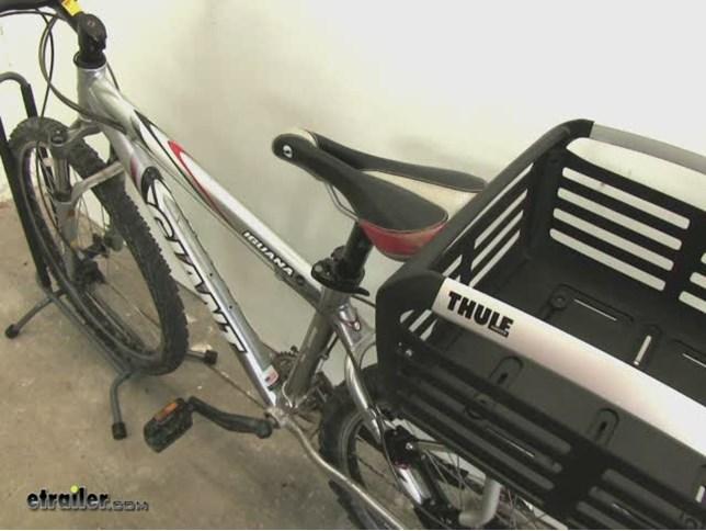 Thule Pack N Pedal Basket For Bike Racks 33 Lbs Black