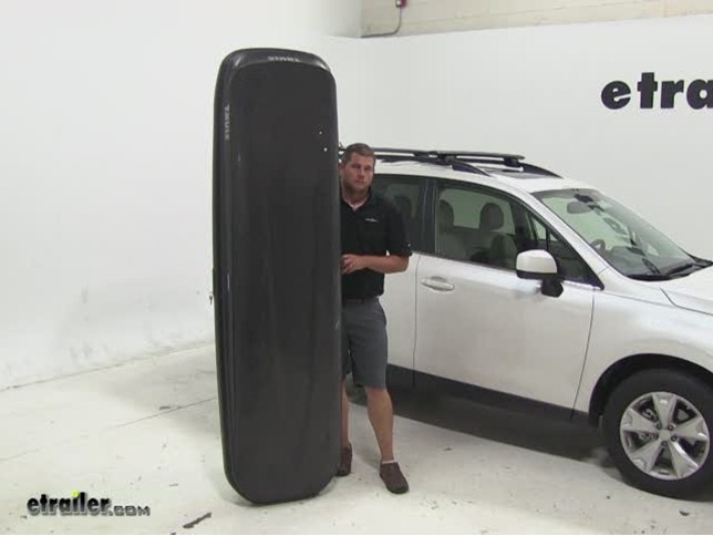 Thule Pulse Alpine Roof Cargo Carrier Review 2015 Subaru Forester Video Etrailer Com