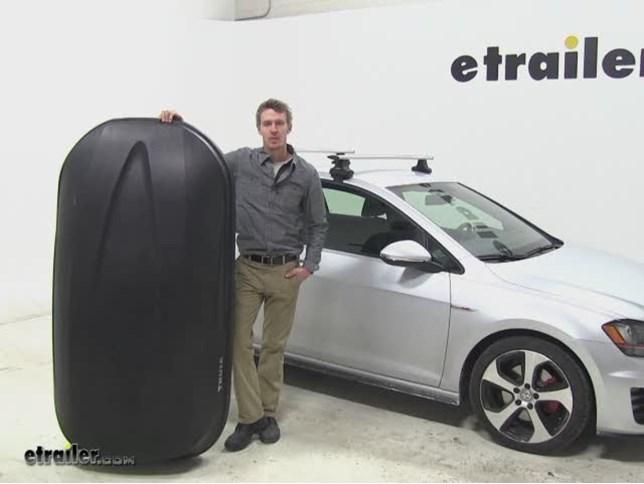 Thule Pulse Roof Cargo Carrier Review 2015 Volkswagen Golf Video Etrailer Com