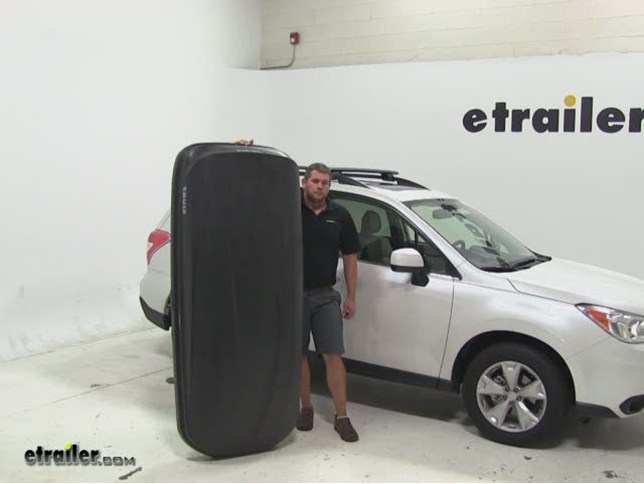 Thule Pulse Large Roof Cargo Carrier Review 2015 Subaru Forester Video Etrailer Com