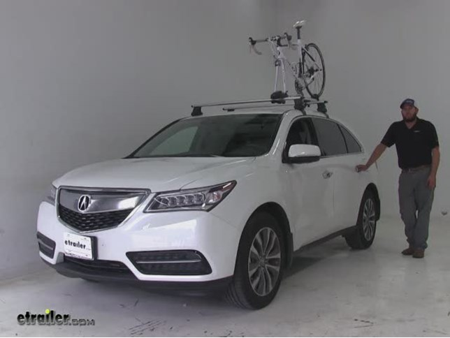 Thule Roof Bike Racks Review Acura MDX Video Etrailercom - Acura mdx bike rack