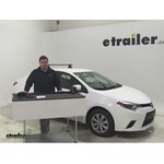 Video review thule roof rack 2014 toyota corolla thlb50