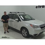 Video review thule roof rack 2015 subaru forester thlb50