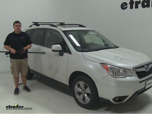 Thule Roof Rack Review 2015 Subaru Forester Video Etrailer Com