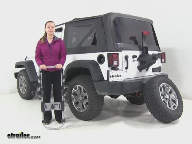 Thule Spare Tire Bike Racks Review   2014 Jeep Wrangler Video | Etrailer.com